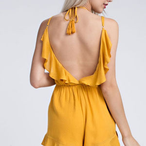 Other - Ruffle Yellow Romper